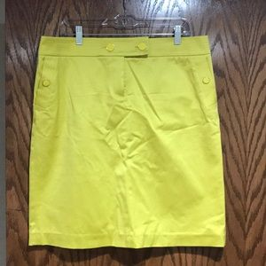 J. Crew citrine pencil skirt